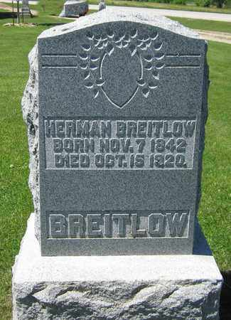 BREITLOW, HERMAN - Kewaunee County, Wisconsin | HERMAN BREITLOW - Wisconsin Gravestone Photos