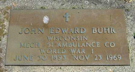 BUHR, JOHN EDWARD - Kewaunee County, Wisconsin | JOHN EDWARD BUHR - Wisconsin Gravestone Photos
