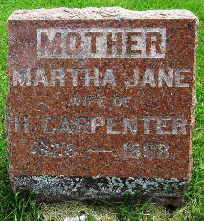 CARPENTER, MARTHA JANE - Kewaunee County, Wisconsin | MARTHA JANE CARPENTER - Wisconsin Gravestone Photos