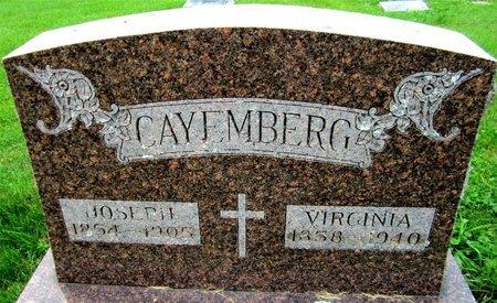 CAYEMBERG, JOSEPH - Kewaunee County, Wisconsin | JOSEPH CAYEMBERG - Wisconsin Gravestone Photos