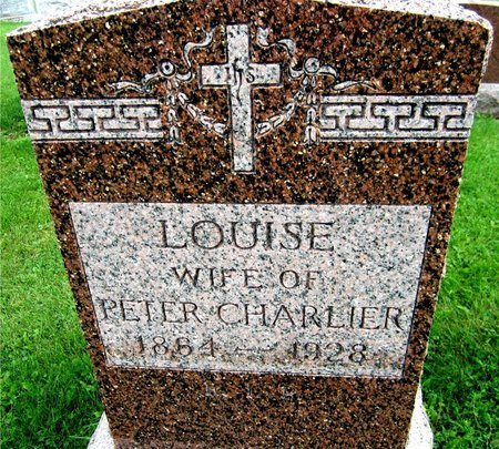 CHARLIER, LOUISE - Kewaunee County, Wisconsin | LOUISE CHARLIER - Wisconsin Gravestone Photos