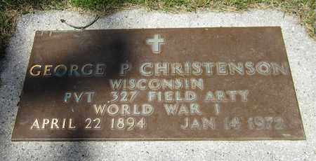 CHRISTENSON, GEORGE P. - Kewaunee County, Wisconsin | GEORGE P. CHRISTENSON - Wisconsin Gravestone Photos