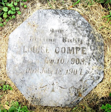 COMPE, LOUISE - Kewaunee County, Wisconsin | LOUISE COMPE - Wisconsin Gravestone Photos