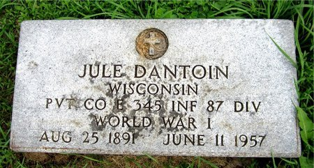 DANTOIN, JULE - Kewaunee County, Wisconsin | JULE DANTOIN - Wisconsin Gravestone Photos