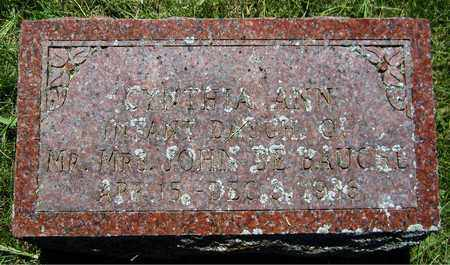 DEBAUCHE, CYNTHIA ANN - Kewaunee County, Wisconsin | CYNTHIA ANN DEBAUCHE - Wisconsin Gravestone Photos