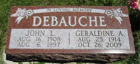DEBAUCHE, JOHN L. - Kewaunee County, Wisconsin | JOHN L. DEBAUCHE - Wisconsin Gravestone Photos