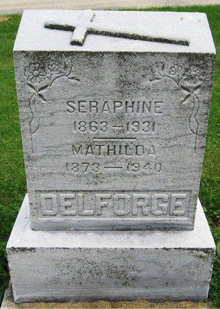 DELFORGE, MATHILDA - Kewaunee County, Wisconsin | MATHILDA DELFORGE - Wisconsin Gravestone Photos
