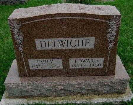 DELWICHE, EDWARD - Kewaunee County, Wisconsin | EDWARD DELWICHE - Wisconsin Gravestone Photos