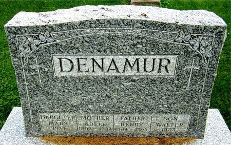 DENAMUR, WALTER - Kewaunee County, Wisconsin | WALTER DENAMUR - Wisconsin Gravestone Photos