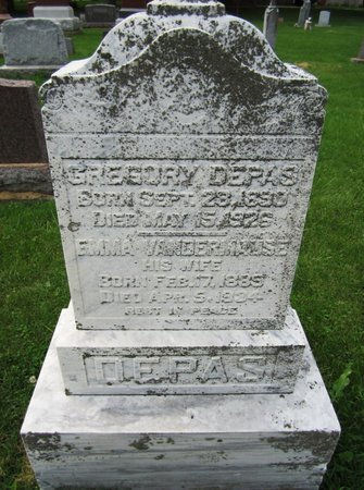 DEPAS, GREGORY - Kewaunee County, Wisconsin | GREGORY DEPAS - Wisconsin Gravestone Photos