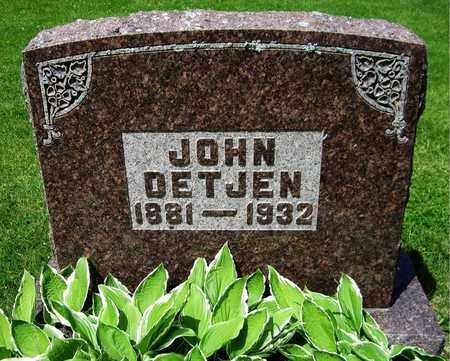 DETJEN, JOHN - Kewaunee County, Wisconsin   JOHN DETJEN - Wisconsin Gravestone Photos