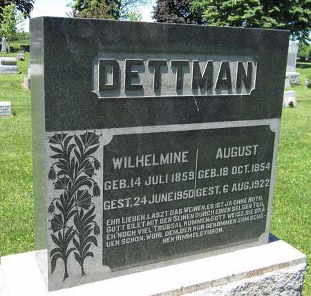 DETTMAN, WILHELMINE - Kewaunee County, Wisconsin | WILHELMINE DETTMAN - Wisconsin Gravestone Photos