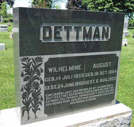 DETTMAN, AUGUST - Kewaunee County, Wisconsin | AUGUST DETTMAN - Wisconsin Gravestone Photos