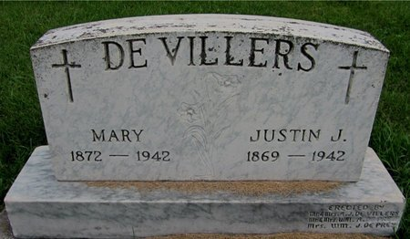 DEVILLERS, MARY - Kewaunee County, Wisconsin | MARY DEVILLERS - Wisconsin Gravestone Photos