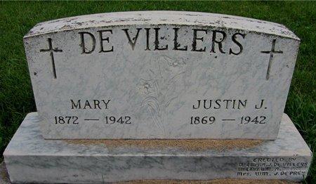 DEVILLERS, JUSTIN J. - Kewaunee County, Wisconsin | JUSTIN J. DEVILLERS - Wisconsin Gravestone Photos