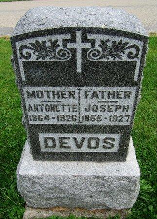 DEVOS, JOSEPH - Kewaunee County, Wisconsin   JOSEPH DEVOS - Wisconsin Gravestone Photos