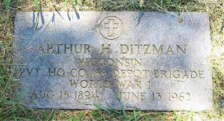 DITZMAN, ARTHUR H. - Kewaunee County, Wisconsin | ARTHUR H. DITZMAN - Wisconsin Gravestone Photos