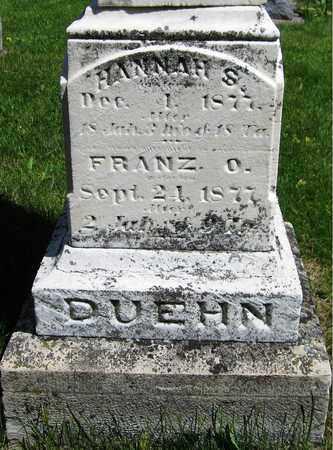 DUEHN, FRANZ O. - Kewaunee County, Wisconsin | FRANZ O. DUEHN - Wisconsin Gravestone Photos