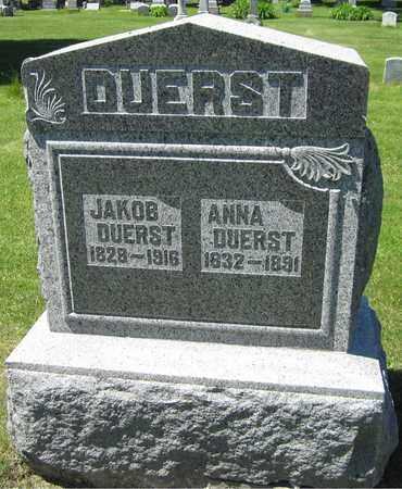 DUERST, JAKOB - Kewaunee County, Wisconsin | JAKOB DUERST - Wisconsin Gravestone Photos
