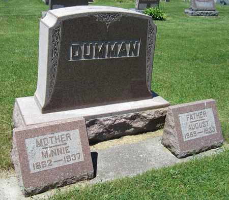DUMMAN, AUGUST - Kewaunee County, Wisconsin | AUGUST DUMMAN - Wisconsin Gravestone Photos
