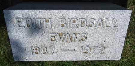 BIRDSALL EVANS, EDITH - Kewaunee County, Wisconsin | EDITH BIRDSALL EVANS - Wisconsin Gravestone Photos