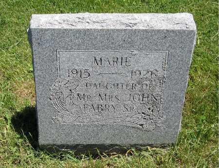 FABRY, MARIE - Kewaunee County, Wisconsin   MARIE FABRY - Wisconsin Gravestone Photos