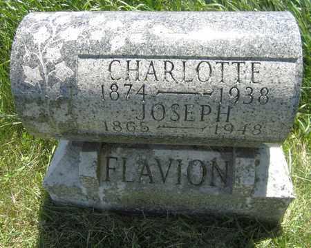 FLAVION, CHARLOTTE - Kewaunee County, Wisconsin | CHARLOTTE FLAVION - Wisconsin Gravestone Photos