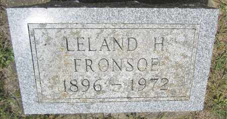 FRONSOE, LELAND H. - Kewaunee County, Wisconsin   LELAND H. FRONSOE - Wisconsin Gravestone Photos