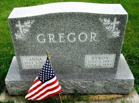 GREGOR, BYRON - Kewaunee County, Wisconsin | BYRON GREGOR - Wisconsin Gravestone Photos