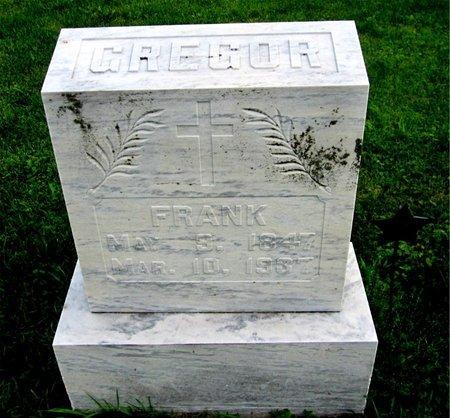 GREGOR, FRANK - Kewaunee County, Wisconsin | FRANK GREGOR - Wisconsin Gravestone Photos