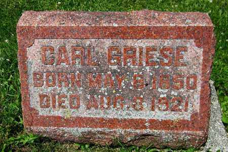 GRIESE, CARL - Kewaunee County, Wisconsin | CARL GRIESE - Wisconsin Gravestone Photos