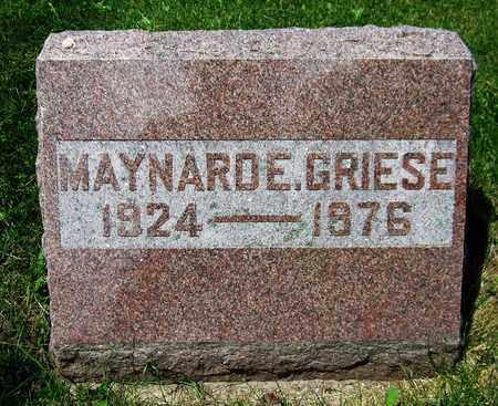 GRIESE, MAYNARD E. - Kewaunee County, Wisconsin | MAYNARD E. GRIESE - Wisconsin Gravestone Photos