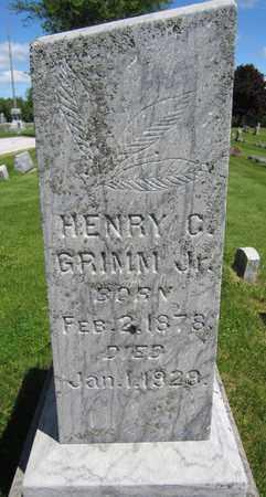 GRIMM, HENRY C., JR. - Kewaunee County, Wisconsin | HENRY C., JR. GRIMM - Wisconsin Gravestone Photos