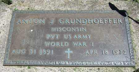 GRUNDHOEFFER, ANTON J. - Kewaunee County, Wisconsin | ANTON J. GRUNDHOEFFER - Wisconsin Gravestone Photos