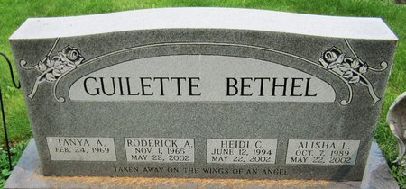GUILETTE, ALISHA - Kewaunee County, Wisconsin | ALISHA GUILETTE - Wisconsin Gravestone Photos