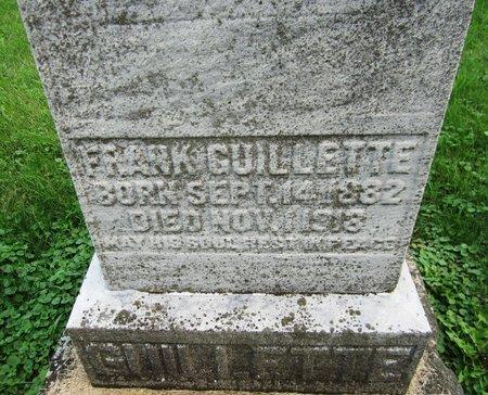 GUILLETTE, FRANK - Kewaunee County, Wisconsin | FRANK GUILLETTE - Wisconsin Gravestone Photos