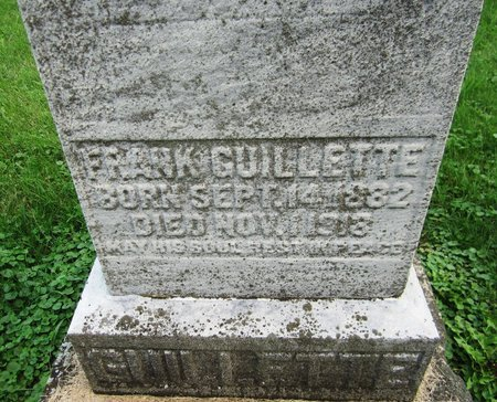 GUILLETTE, FRANK - Kewaunee County, Wisconsin | FRANK GUILLETTE - Wisconsin Gravestone Photos
