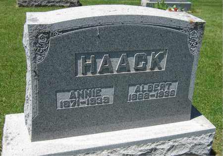 HAACK, ANNIE - Kewaunee County, Wisconsin   ANNIE HAACK - Wisconsin Gravestone Photos
