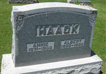 HAACK, ALBERT - Kewaunee County, Wisconsin | ALBERT HAACK - Wisconsin Gravestone Photos
