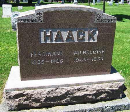 HAACK, WILHELMINE - Kewaunee County, Wisconsin | WILHELMINE HAACK - Wisconsin Gravestone Photos