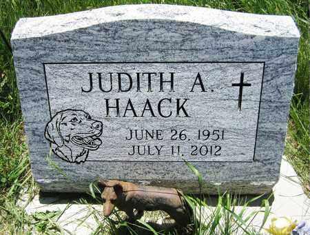 HAACK, JUDITH A. - Kewaunee County, Wisconsin | JUDITH A. HAACK - Wisconsin Gravestone Photos