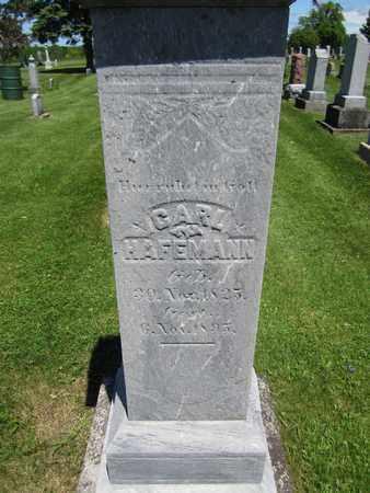 HAFEMANN, CARL - Kewaunee County, Wisconsin | CARL HAFEMANN - Wisconsin Gravestone Photos
