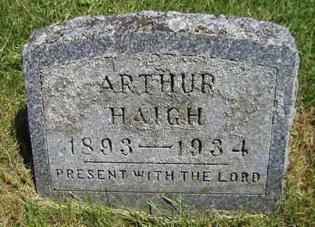 HAIGH, ARTHUR - Kewaunee County, Wisconsin | ARTHUR HAIGH - Wisconsin Gravestone Photos