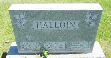 HALLOIN, LAURA A. - Kewaunee County, Wisconsin | LAURA A. HALLOIN - Wisconsin Gravestone Photos
