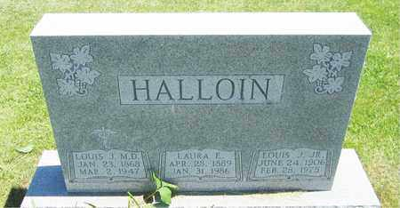 HALLOIN, LOUIS J., M.D. - Kewaunee County, Wisconsin   LOUIS J., M.D. HALLOIN - Wisconsin Gravestone Photos