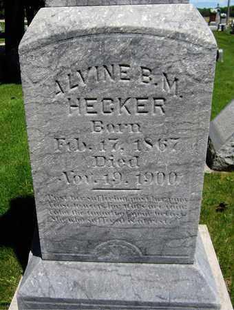 HECKER, ALVINE B. M. - Kewaunee County, Wisconsin | ALVINE B. M. HECKER - Wisconsin Gravestone Photos