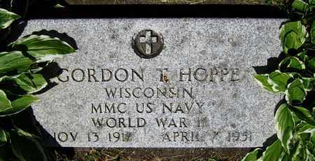 HOPPE, GORDON T. - Kewaunee County, Wisconsin | GORDON T. HOPPE - Wisconsin Gravestone Photos