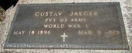 JAEGER, GUSTAV - Kewaunee County, Wisconsin | GUSTAV JAEGER - Wisconsin Gravestone Photos