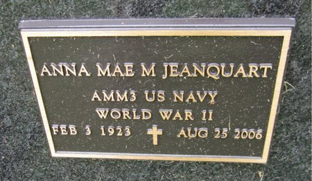 JEANQUART, ANNA MAE - Kewaunee County, Wisconsin | ANNA MAE JEANQUART - Wisconsin Gravestone Photos