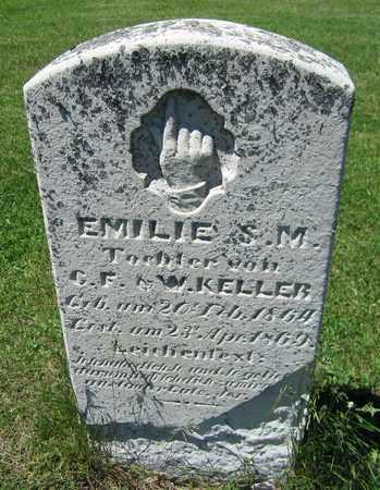 KELLER, EMILIE - Kewaunee County, Wisconsin | EMILIE KELLER - Wisconsin Gravestone Photos